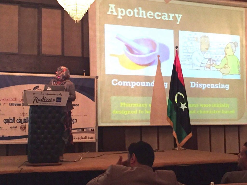 Faculty of Pharmacy participates in the First Scientific Conference of the Specialized Libyan Pharmacist